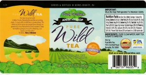 pure wild tea barely sweetened anise hyssop
