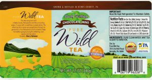 pure wild tea barely sweetened chocolate mint