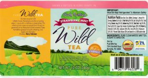pure wild tea barely sweetened strawberry mint